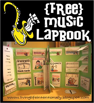 {free} Music Lapbook including activities, games, worksheets, and Peter & the Wolf Activities: Music Lapbook, Free Music, Music Teacher, Music Appreciation, Music Class, Free Printable, Music Education, Homeschool Music
