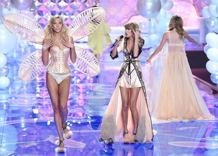 Pokaz Victoria's Secret 2014 - goście muzyczni, Karlie Kloss i Taylor Swift, fot. East News