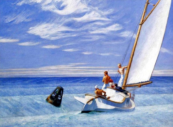 Ground Swell by Edward Hopper, 1939, oil on canvas,  genre: Social Realism