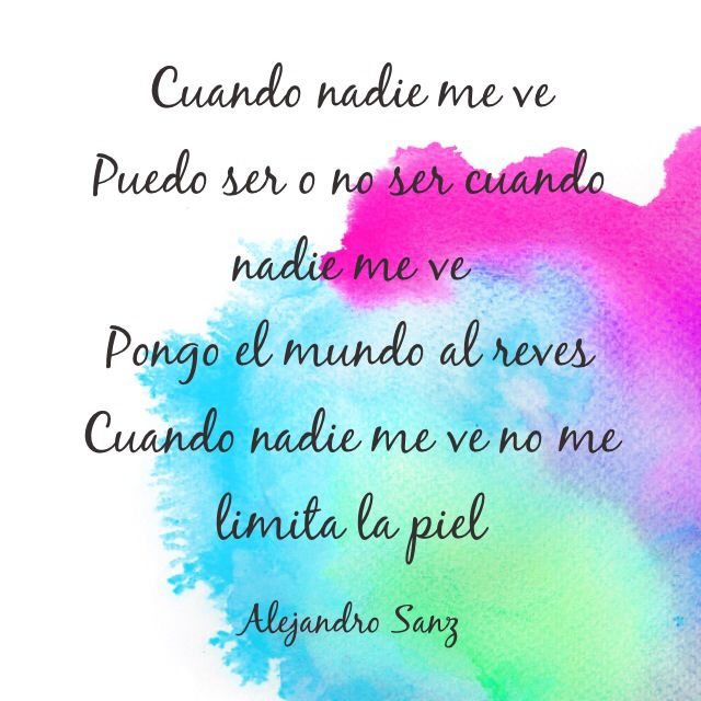 Alejandro Sanz- cuando nadie me ve