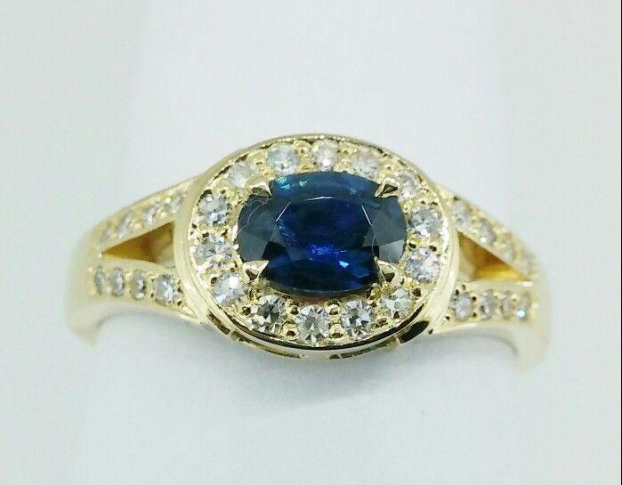 #sapphire #diamond #ring #18ct #handmade #jewellery