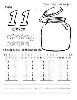 11 20 number tracers teaching ideas number tracer number tracing number words. Black Bedroom Furniture Sets. Home Design Ideas
