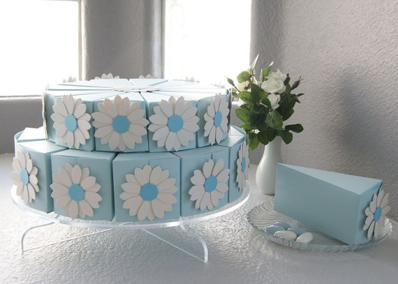 Personalized Wedding Cake Slice Favor Boxes Wedding Decor Ideas