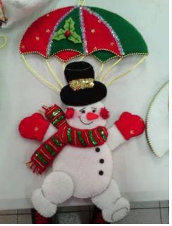 Moldes completos para hacer hermosos colgantes navideños con paracaidas – Aprende Con Diana