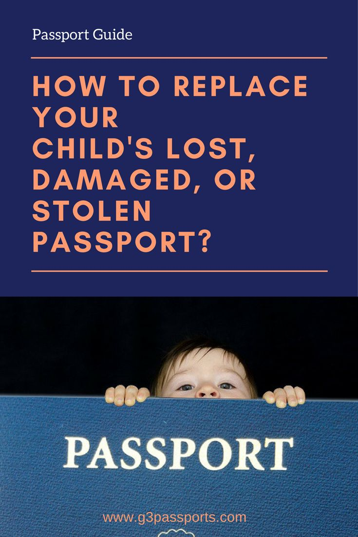 What to do when your child's Passport has been damaged, lost, or stolen? Child Passport Replacement Guide.