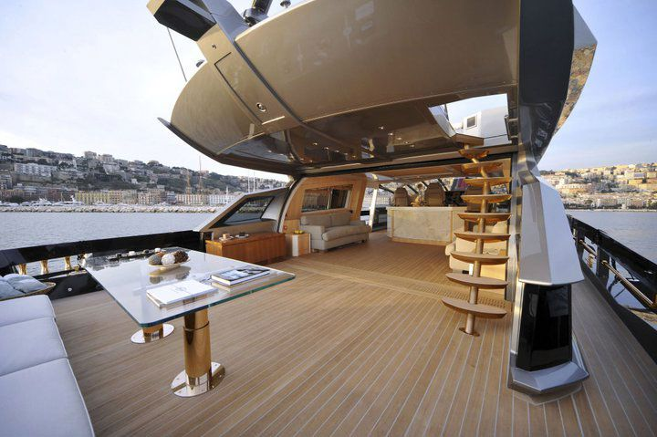outside deck and bar  - yacht