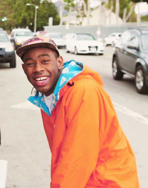 Tyler the creator! look at that smile :)