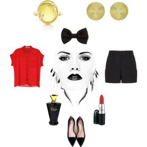 """bowtie"" by lamoda on Polyvore"
