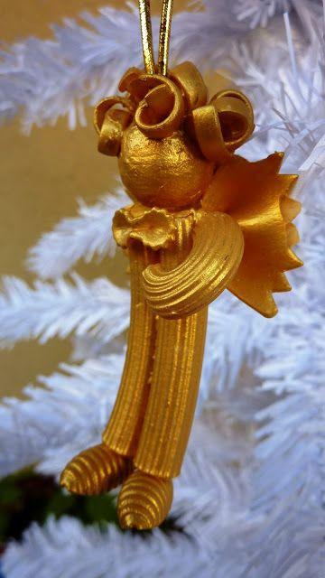 Riciclo Creativo - Craft and Fun: Lavoretti di Natale : angioletti di pasta
