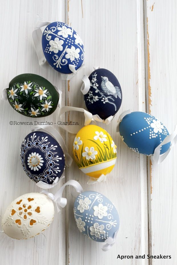 Hand-painted eggs from Czech Republic | Apron and Sneakers