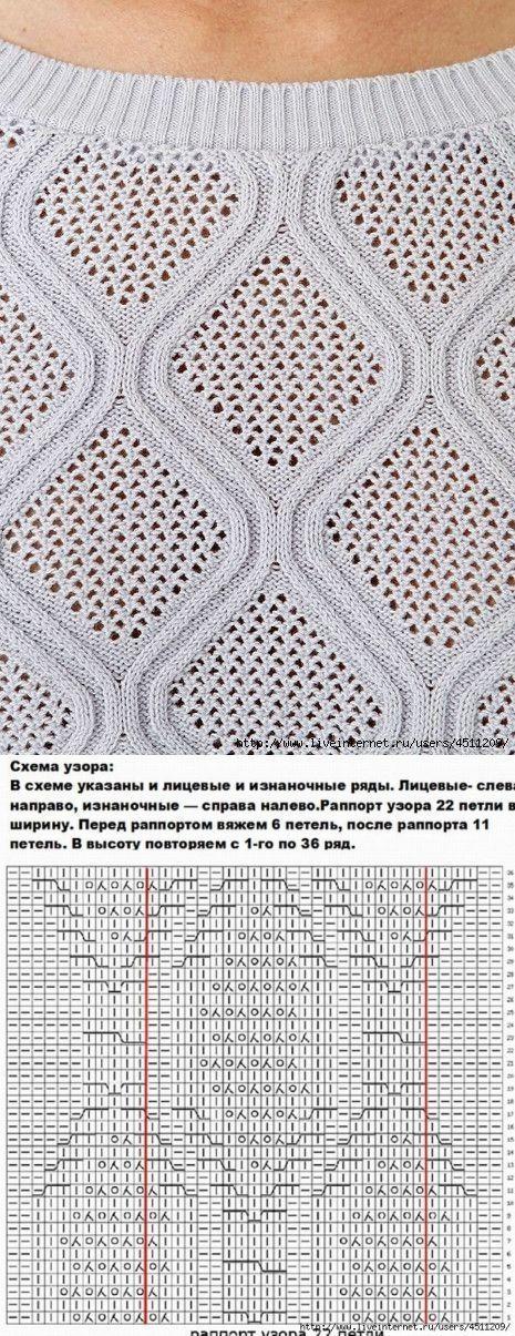 Вязание: красивый узор | Узоры спицами | Постила