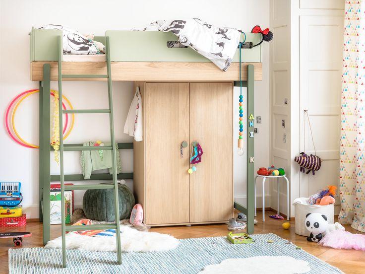 Micasa Kinderzimmer mit Hochbett FLEXA POPSICLE