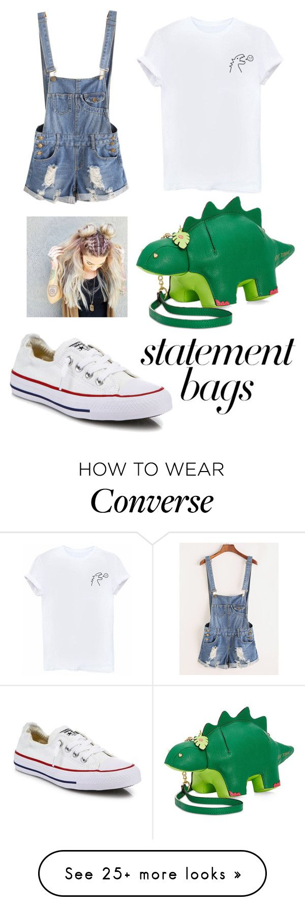 """""""Pre-historic"""" by small-peanut on Polyvore featuring Betsey Johnson, Converse and statementbags"""