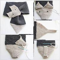 шарф лиса спицами схема описание мастер-класс