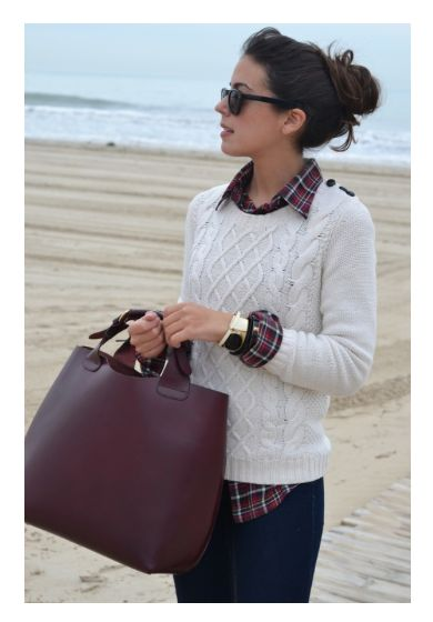 Prep club / karen cox. .East Coast Style. Layering a cable knit sweater and plaid shirt is a great way to stay warm.