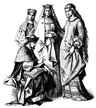 13 век. Немецкий принц и знатные немецкие девушки