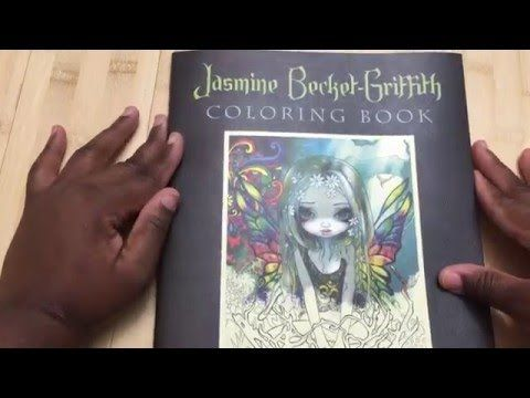 Jasmine Becket Griffith Strangeling Adult Coloring Book Review And Flip Through