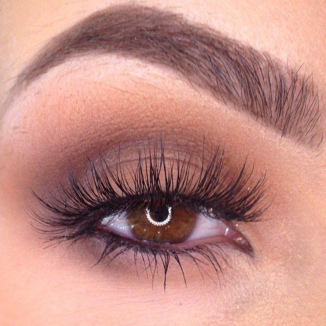 Soft Smokey Eye & Wispy Lashes...Eyebrow On Fleek!