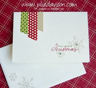 Clean and Simple Notecard with Stampin' Up! Season of Style Washi Tape and Endless Wishes Photopolymer stamp set