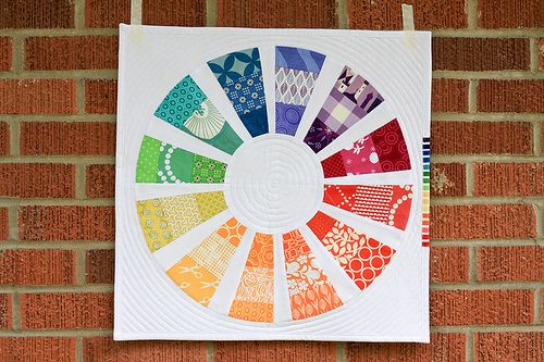 in color order: Quilts Inspiration, Colour Wheels, Minis Quilts, Wheels Minis, Quilts Blocks, Color Wheels, Color Order, Photos Shared, Purl Bees