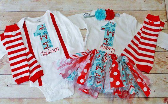 Thing 1 Thing 2 Birthday /Girl Girl Twin by RightUpYourAli1