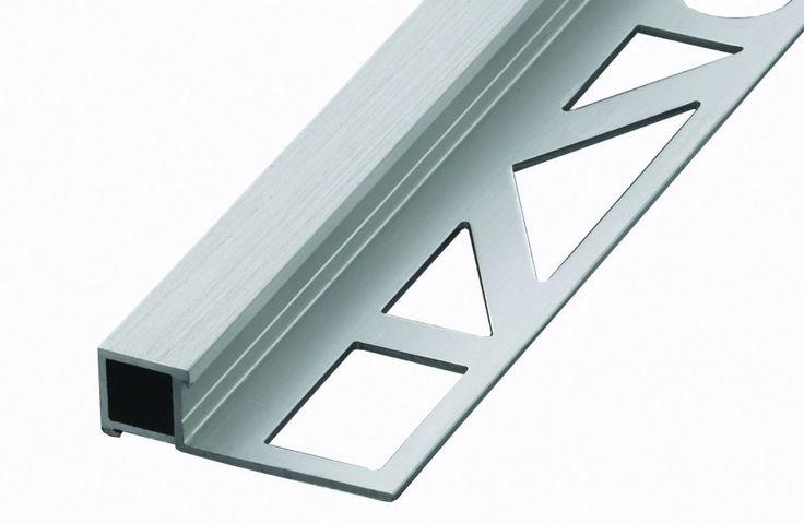 Prodecor Q firkant list matt sølv børstet 8 mm