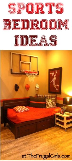 creative sports bedroom theme ideas at thefrugalgirlscom check out these fun - Sports Bedroom Decorating Ideas