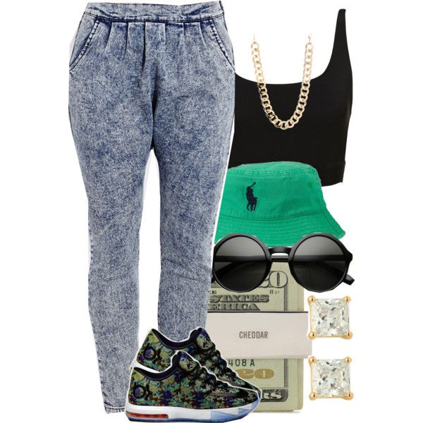 A fashion look from April 2014 featuring Forever 21 jeans, NIKE shoes and Nordstrom earrings. Browse and shop related looks.