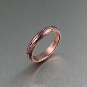unique copper jewelry / Handmade Bark Copper Ring