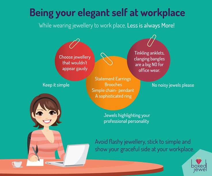 Walk into your workplace looking elegant and graceful. Remenber to keep it simple, silly!  #Infographic  #OfficeWear  #Elegant