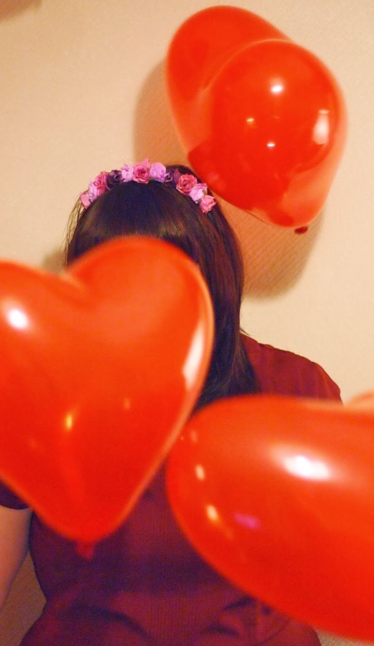 Heart Balloons, Crown and Glory Floral headband