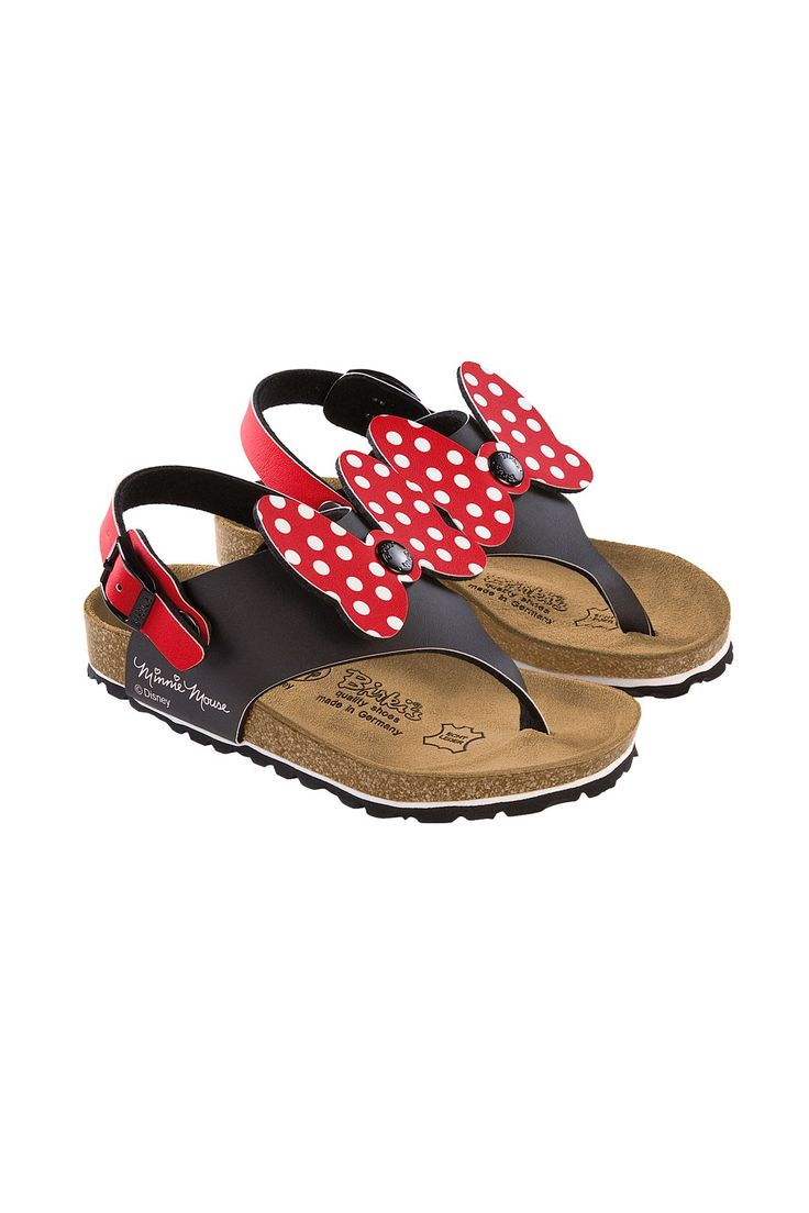 baby birkenstocks, minnie mouse style