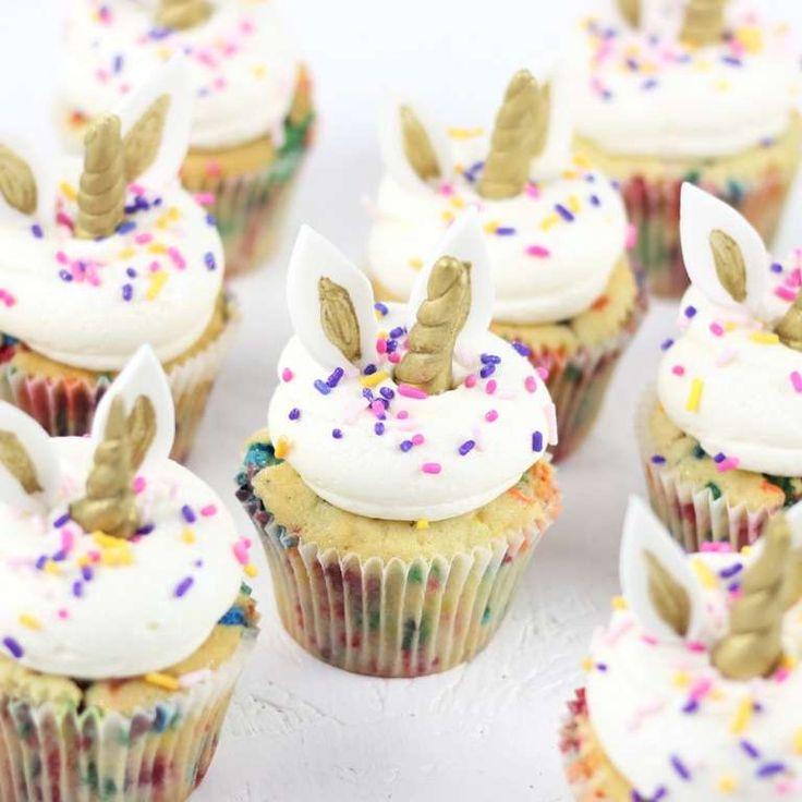 30+ Fantásticos Cupcakes de Unicornio super Fáciles de Hacer – Manualidades