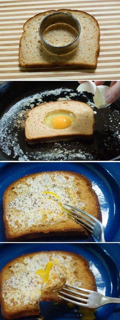 Fried Eggs in Bread | Ipinterist