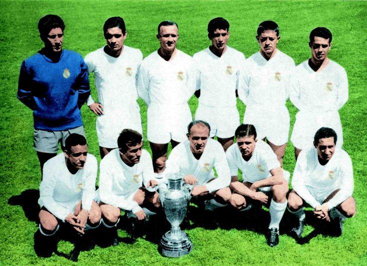 Equipo que ganó la quinta Copa de Europa. Real Madrid, 7 - Eintrach de Frankfurt, 3. Estadio Hampden Park de Glasgow. 18 de mayo de 1960