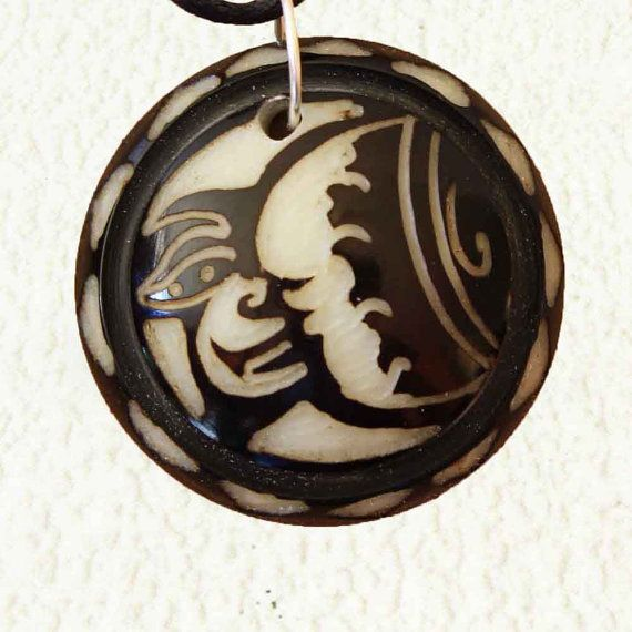 Man in the Moon Pendant  Fathers Day Gifts for Him  Moon