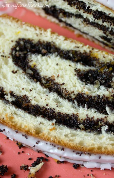 Poppy Seed Roll (Polish Makowiec) recipe from Jenny Jones (JennyCanCook.com) - A traditional sweet Polish holiday bread filled with poppy seeds, citrus peel, and almonds. The recipe is easier than you think. Make it once and you'll be addicted! #JennyCanCook