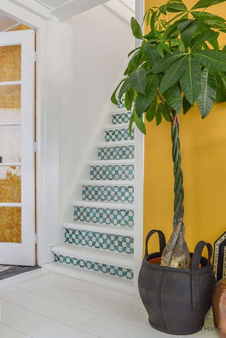 25 beste idee n over verf trap op pinterest trappen schilderen geschilderde stoepen en - Verf een ingang en een gang ...