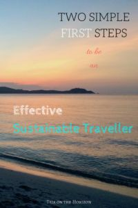 Two First Steps to be an Effective Sustainable Traveller | Responsible Travel | Sustainable Travel | Carbon offset | Self-Awareness