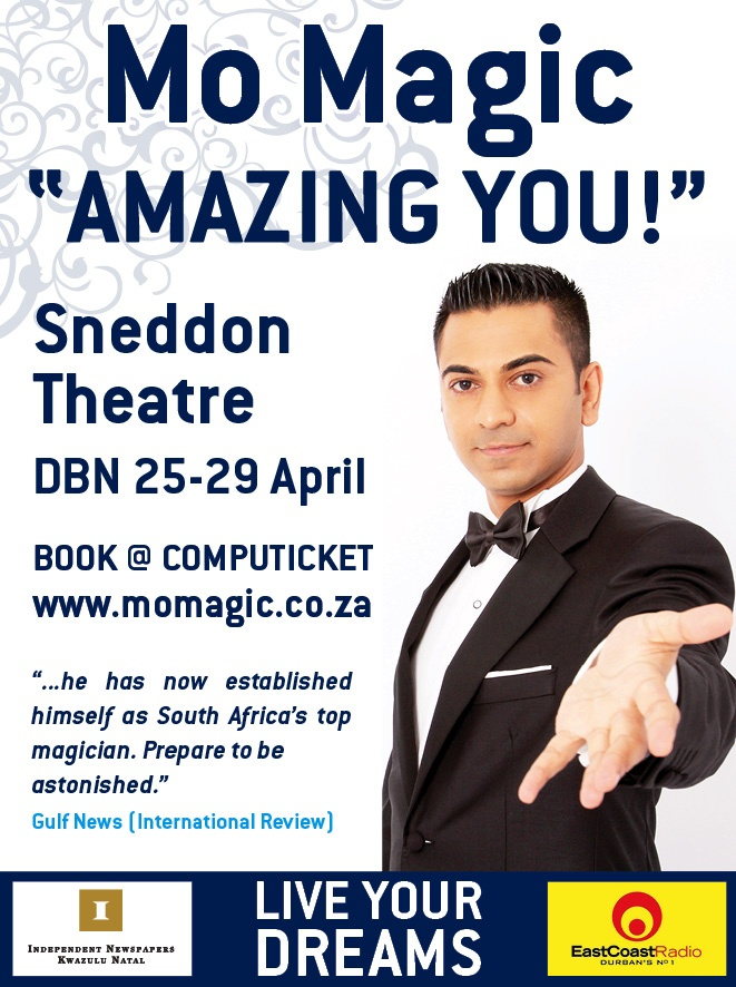 "Mo Magic'sastonishing and inspirational autobiographical theatre production""AMAZINGYOU!"""