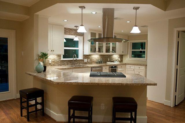Fabulous Kitchen Angled Peninsula