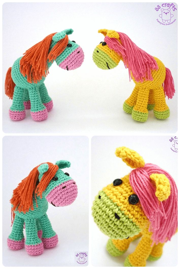 Amigurumi Top Yapilisi : 74 best images about paarden haken on Pinterest Free ...