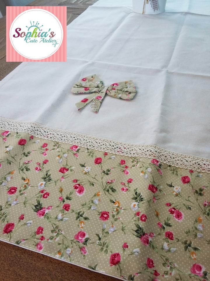 Handmade Romantic Tablerunner ~ You are very welcome to visit our services:  www.facebook.com/SophiasCuteAtelier/