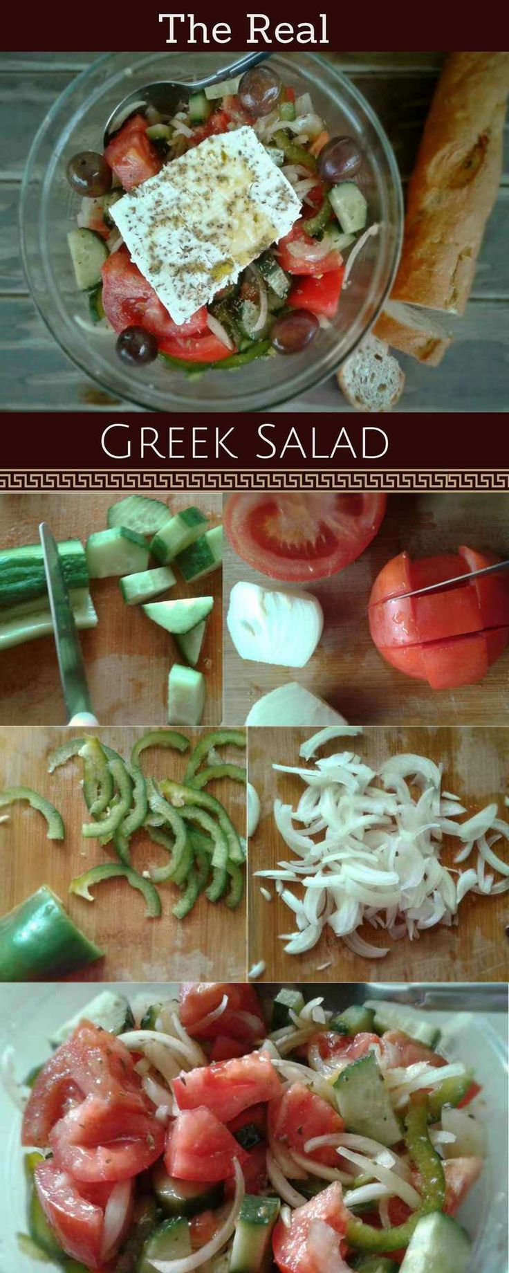 Here's how to make a Greek salad like a Greek. It's much more simple than you can imagine. Got any spare extra ripe and sweet tomatoes? #greekfood #greeksalad #appetizer #recipe #tomatoes #salad