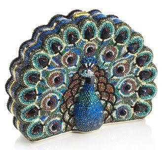 Judith Leiber peacock purse