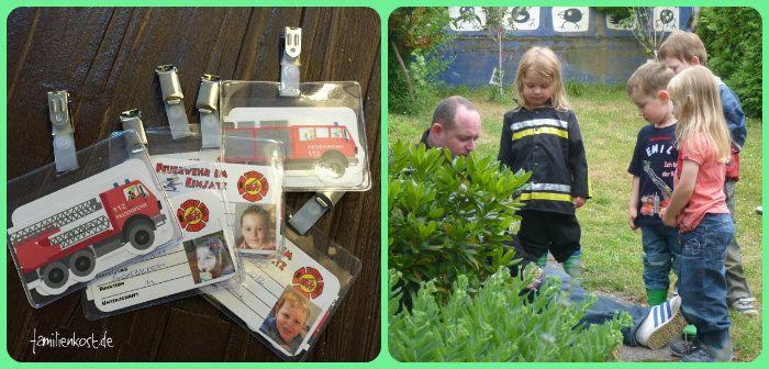 Ausweise Feuerwehrparty Kindergeburtstag