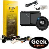 CompuStar - RS1B-DC2 1-Way Remote Starter Kit & Tilt Switch for Select Nissan & Infiniti Models with Geek Squad® Installation