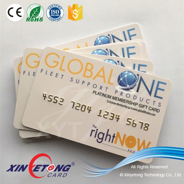 EM4200 128 bits PVC material RFID discount card for Super market