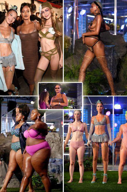 Rihanna celebrates women at groundbreaking Savage x Fenty lingerie line  fashion show alongside Hadid sisters and 1d0812911