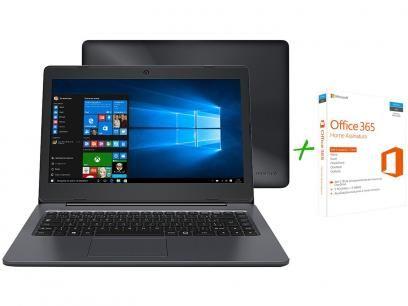 """Notebook Positivo Stilo One XC3570 Intel Quad Core - 2GB SSD 32GB LED 14"""" + Office 365 Home 5 Licenças com as melhores condições você encontra no Magazine Terezinhasousa. Confira!"""